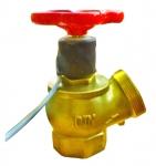 Кран пожарный латунный с датчиком положения ДППК-С (ДУ-50)