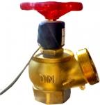 Кран пожарный латунный с датчиком положения ДППК-С (ДУ-65)
