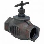 Клапан чугунный  (прямой) 15кч33п Ду-50 (муфта, муфта)