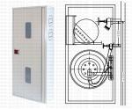 Шкаф пожарный 600x1200x250 навесной (без задн. ст) - ШПК-310Н-25