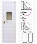 Шкаф пожарный 540x1850x230 навесной (без з/с) - ШПК-320Н-2