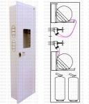 Шкаф пожарный 540x1850x230 встроенный (без з/с) - ШПК-320В-2